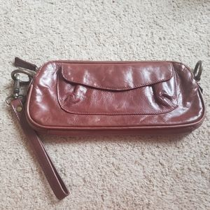 Latico Brown leather wallet Clutch wristlet